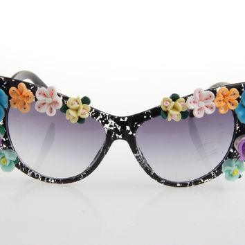 Women's Cute Lovely Summer Style Hot Fashion Fimo Flower Sunglasses = 4672244356