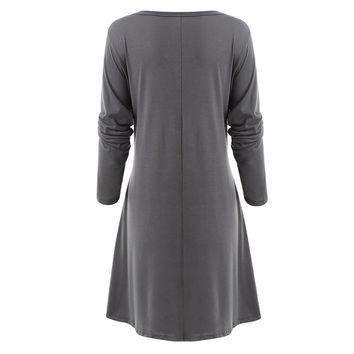 Long Sleeve Tunic Casual Dress