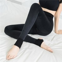 2017 Autumn Winter Black Warm Women Legging Cotton Thin Elastic Suede Plus Size Thick Slim Legging