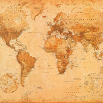 World Map Print at AllPosters.com