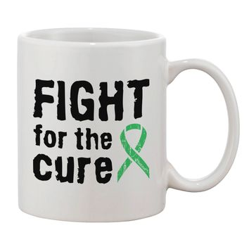 Fight for the Cure - Light Green Ribbon Celiac Disease Printed 11oz Coffee Mug
