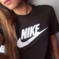 """NIKE"" Women Fashion Print T-Shirt Top Tee"