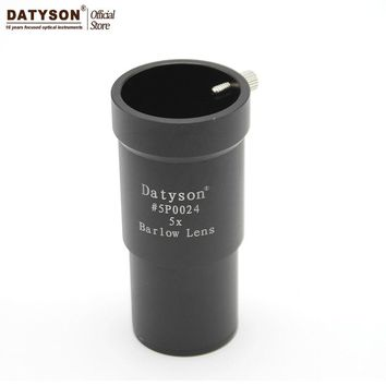 "5x Barlow Lens 1.25"" Metal Fully Multi Coated Optics 3 Element APO 5 Times Magnify for Astronomical Telescope Eyepiece Ocular"