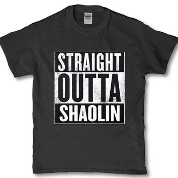 Straight outta Shaolin - Wu tang adult t-shirt