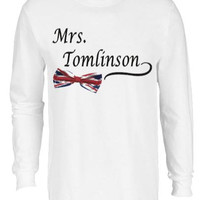 Mrs. Louis Tomlinson One Direction Music Band T-shirt Tee Long Sleeve Teen Gift Christmas 1D Cute
