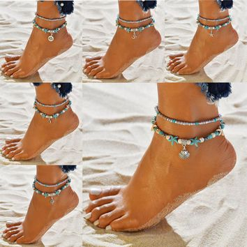 Starfish Charms Anklets