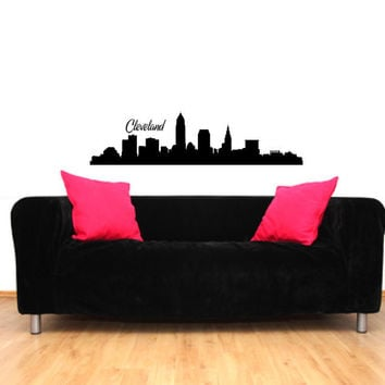 Cleveland Ohio City Skyline Vinyl Wall Decal Sticker Graphic