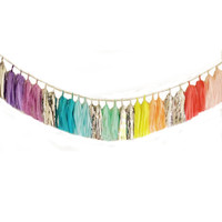 Tassel garland ULTRA-LONG rainbow tissue paper tassel // wedding // shower // reception // birthday