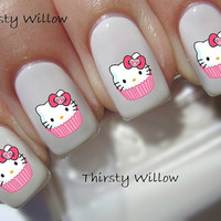 Hello Kitty Cupcake Nail Decals