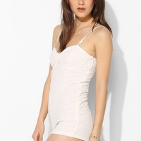Motel Textured Knit Bustier Romper - Urban Outfitters