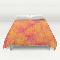 Tulip Fields #105 Duvet Cover by Gréta Thórsdóttir  #floral #tulips #pattern #bedroom #abstract #Genus #Tulipa #Liliaceae