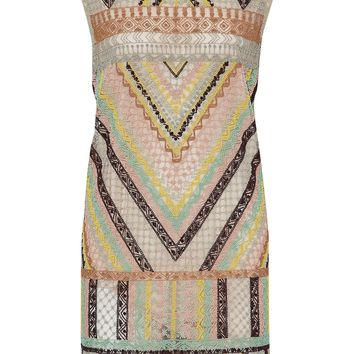 Fringed beaded tulle mini dress | VALENTINO | Sale up to 70% off | THE OUTNET
