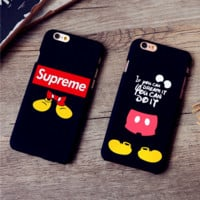 Tide mobile phone shell 7plus scrub hard shell 6plus creative personality cartoon protective cover 6s boys shell
