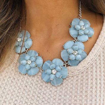 Pretty Arrangement Necklace: Powder Blue