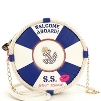 Betsey Johnson Welcome Aboard Nautical Life Preserver Cross-Body Bag | Dillards