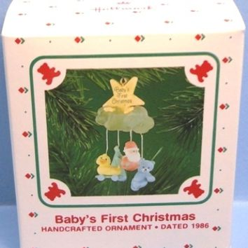 1986 Baby's First Christmas Hallmark Retired Ornament - RARE