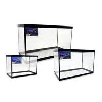 Deep Blue Professional Fish Tank with Black Frame