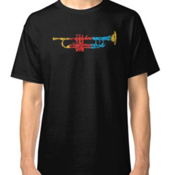 'Colorful Trumpet T-shirt' T-Shirt by hillsanty