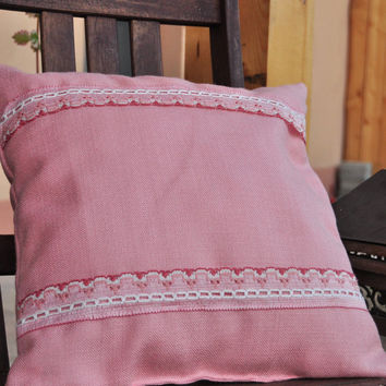 Rose dream pillow with insert - big stripes