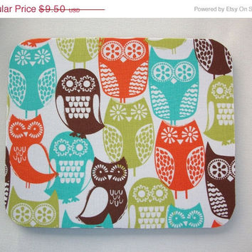 Christmas in July SALE Mouse Pad mousepad / Mat - Rectangle - Swedish Owls