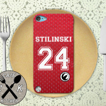 Teen Wolf Inspired Stiles Stilinski Red Jersey Beacon Hills Rubber Case iPod 5th Generation and Plastic Case For The iPod 4th Generation