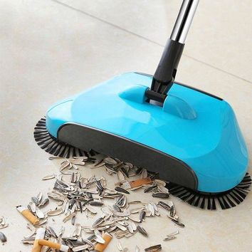 CREYLD1 Stainless Steel Sweeping Machine Push Type Hand Push Magic Broom Dustpan Handle Household Cleaning Package Hand Push Sweeper mop