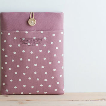 "13 inch Macbook Pro, Retina, Air case, 13"" Custom Laptop Laptop sleeve / Polka Dot Mountbatten Pink"