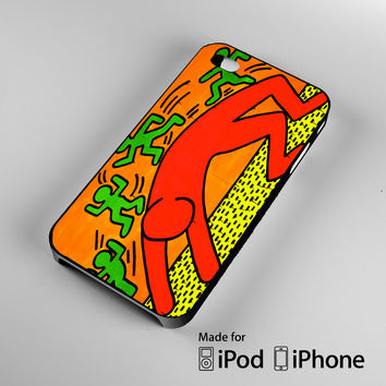Keith Haring Wonderful A0129 iPhone 4S 5S 5C 6 6Plus, iPod 4 5, LG G2 G3, Sony Z2 Case