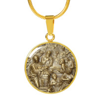 Nativity - 18k Gold Finished Luxury Necklace