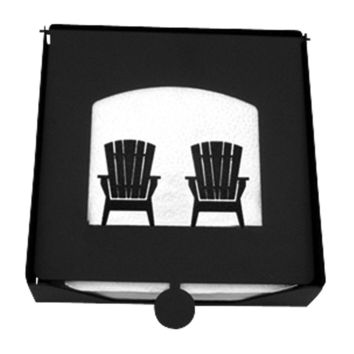 Wrought Iron 2-Piece Chairs Flat Napkin Holder