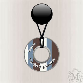I'm the Big Brother Customized Resin Coated Washer Necklace