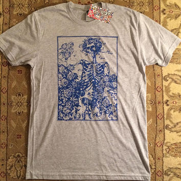 Grateful Dead Bertha Roses t- shirt screen print Jerry Garcia Bob Weir Phil Lesh Mickey Billy Phi