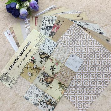 24 Sheets Scrapbooking Pads Paper Origami Background Paper Card Making DIY Paper Craft  04