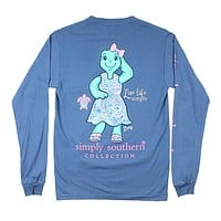 Save Zoey Turtle Tee in Moonrise by Simply Southern