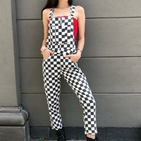 """Checker Out"" Denim Overalls"