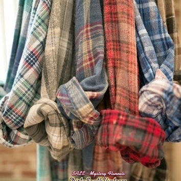 Mystery Vintage Flannel Shirts -OverSized Flannels- Pick Your Size & Color