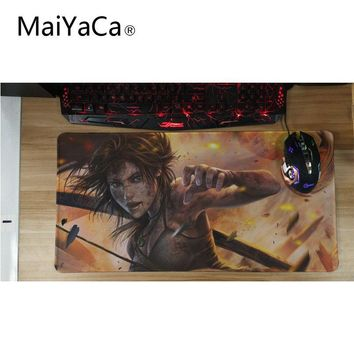 MaiYaCa Tomb raider Keyboard Gaming computer mouse pad Mat Rectangle Anti-Slip Laptop PC Mice Pad Mouse Mats