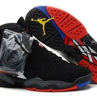 Cheap Nike Air Jordan 8 Retro Black Red White Men Shoes On Sale