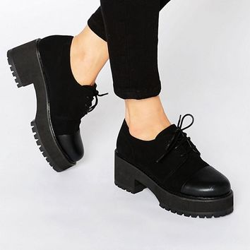 ASOS OBACA Chunky Lace Up Shoes at asos.com