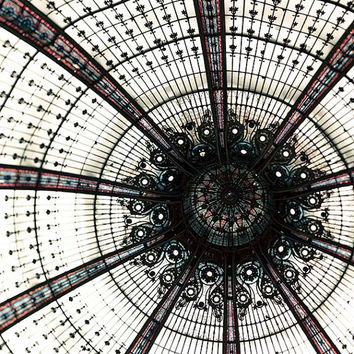 Geometric Architectural industrial Paris photography Galleries Lafayette Modern Abstract French Wall Decor