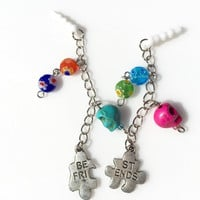Best Friends TWO Dust Plugs Set Kawaii Dangle Charms