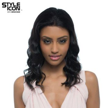 DCCKWJ7 Styleicon Malaysian Virgin Hair Wig Color 1B Lace Front Human Hair Wigs For Women 16 Inch Long Body Wavy Free Shipping