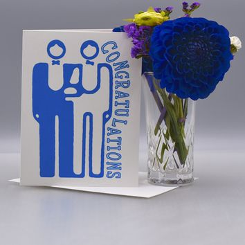A Simple Gay Wedding Congratulations Card