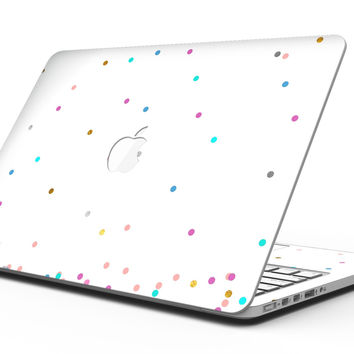 Multicolor Polka Dot Over White - MacBook Pro with Retina Display Full-Coverage Skin Kit