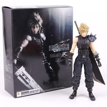 Play Arts Kai Final Fantasy VII 7 NO.1 Cloud Strife PVC Action Figure Collectible Model Toy 26cm