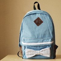 Lace  Bowknot Backpack