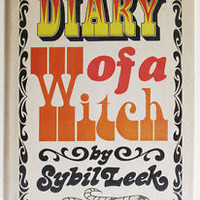 Sybil Leek Diary of a Witch Vintage 1968 HC Witchcraft Wicca psychic gypsy life