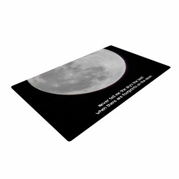 "Sylvia Coomes ""The Moon"" Black White Woven Area Rug"