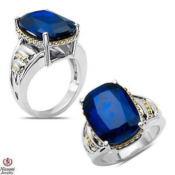 Blue Spinel Fashion Ring in Sterlig Silver