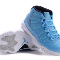 New Air Jordan 11 Retro Men Shoes Blue Black White Hot Sale
